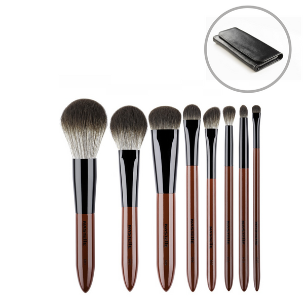 Makeup Brush Set 8pcs, Marsala line