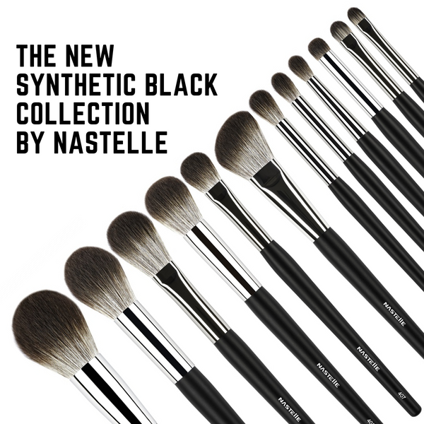 Nastelle Kit 12 Brushes Black Synthetic Collection