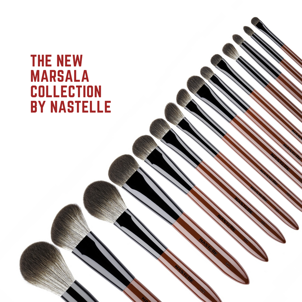 Nastelle | Kit of 15 brushes from Marsala collection