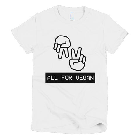 All For Vegan - Short sleeve women's t-shirt