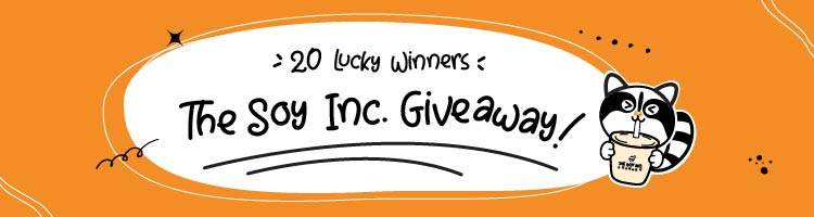 The Soy Inc Singapore Giveaway