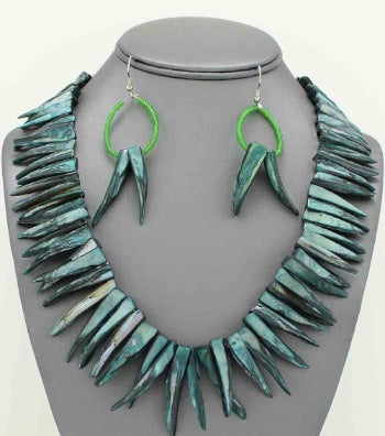 Mandala Shell Spike Collar Necklace