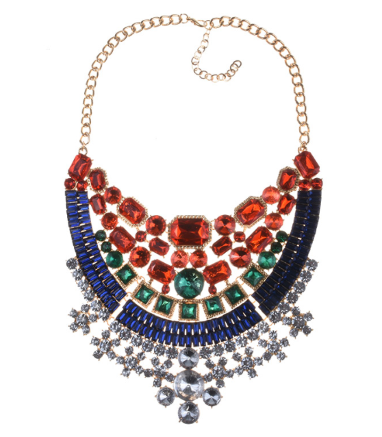 Nefertiti Jeweled Bib Necklace