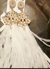Monica Ostrich Feather Earrings