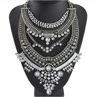 Odessa Silver Statement Necklace
