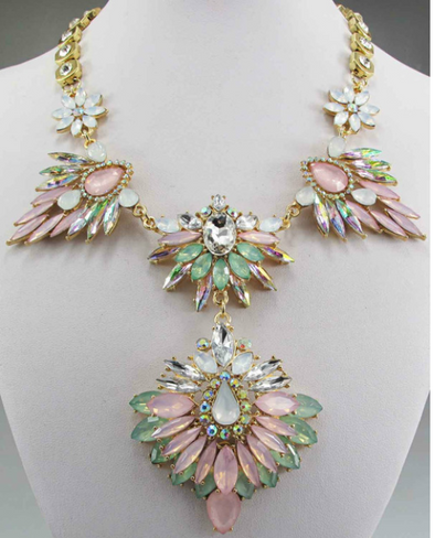 Collete Crystal Statement Necklace
