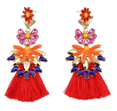 Farrah Tassel Statement Earrings