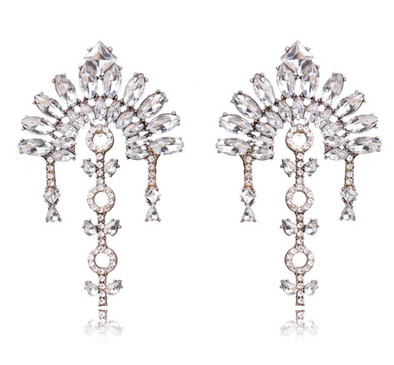 Elizabeth Crystal Statement Earrings