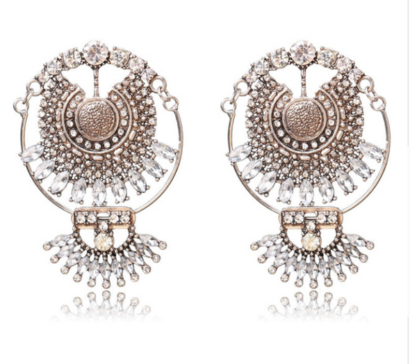 Tia Crystal Statement Earrings