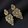 Ratna Chandelier Gold Earrings