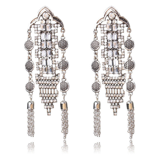 Evelyn Crystal Statement Earrings