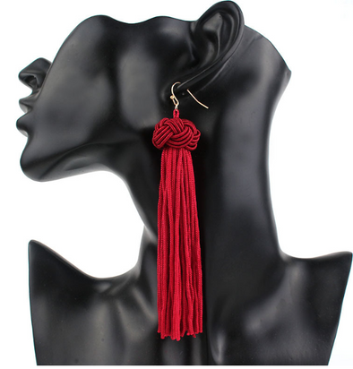 Malia Long Tassel Earrings
