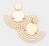 Tanisha Fan Link Earrings