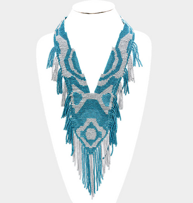 Ayo Tribal Fringe Necklace
