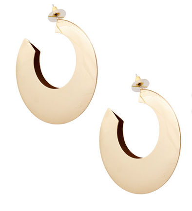 Traci Gold Wide Hoops