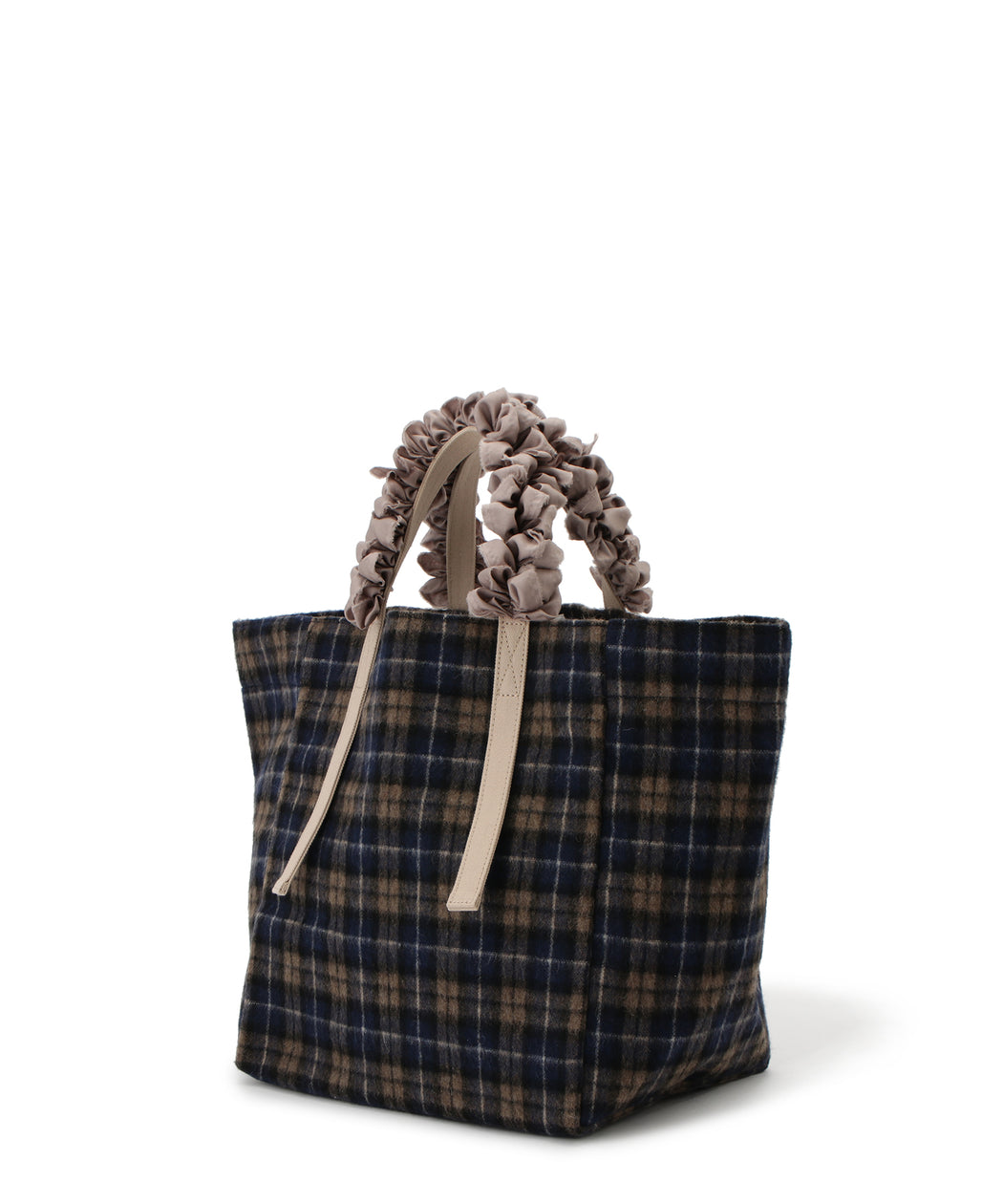 Grape handle tote (Tartan plaid)