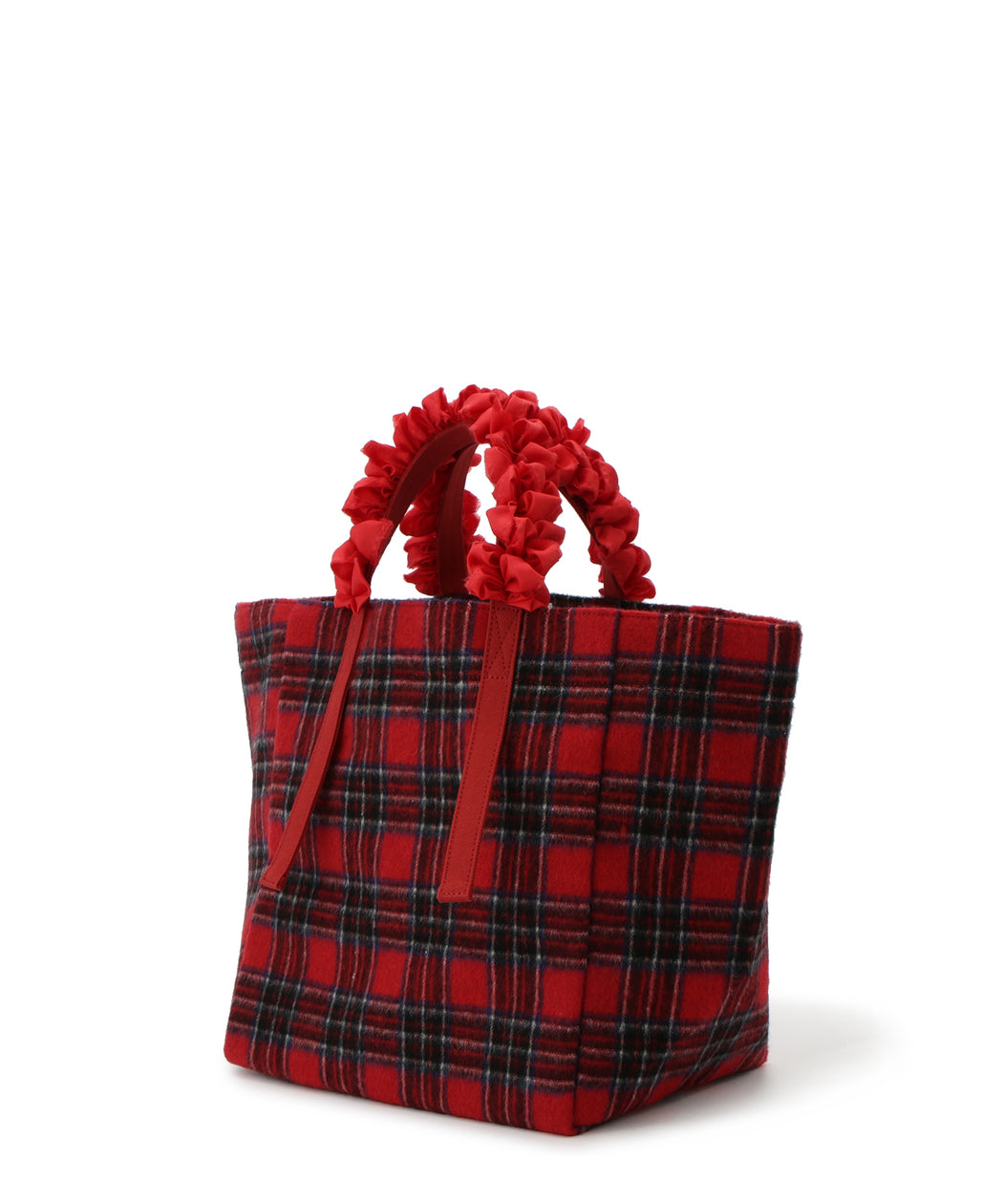 [予約] Grape handle tote (Tartan plaid)