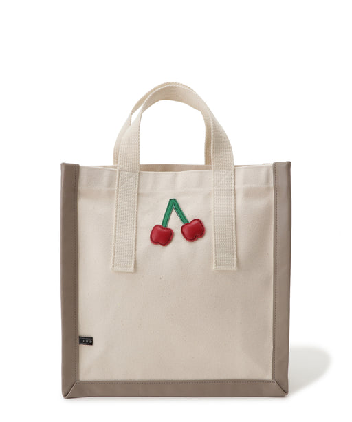 [WEB限定] Canvas motif tote (Cherry) S