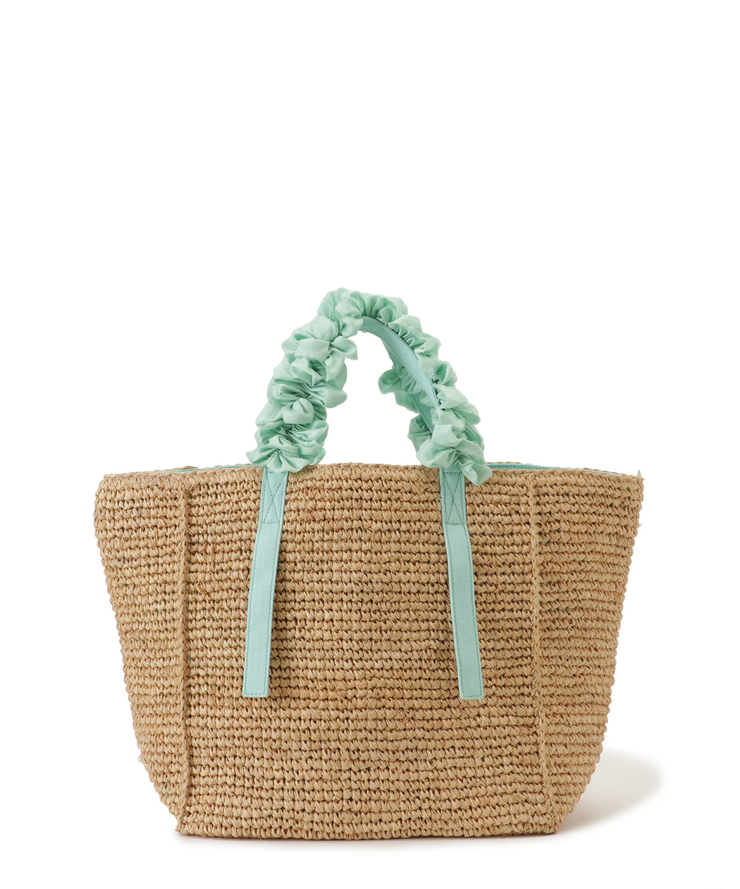 [予約] Grape handle tote (Raffia)
