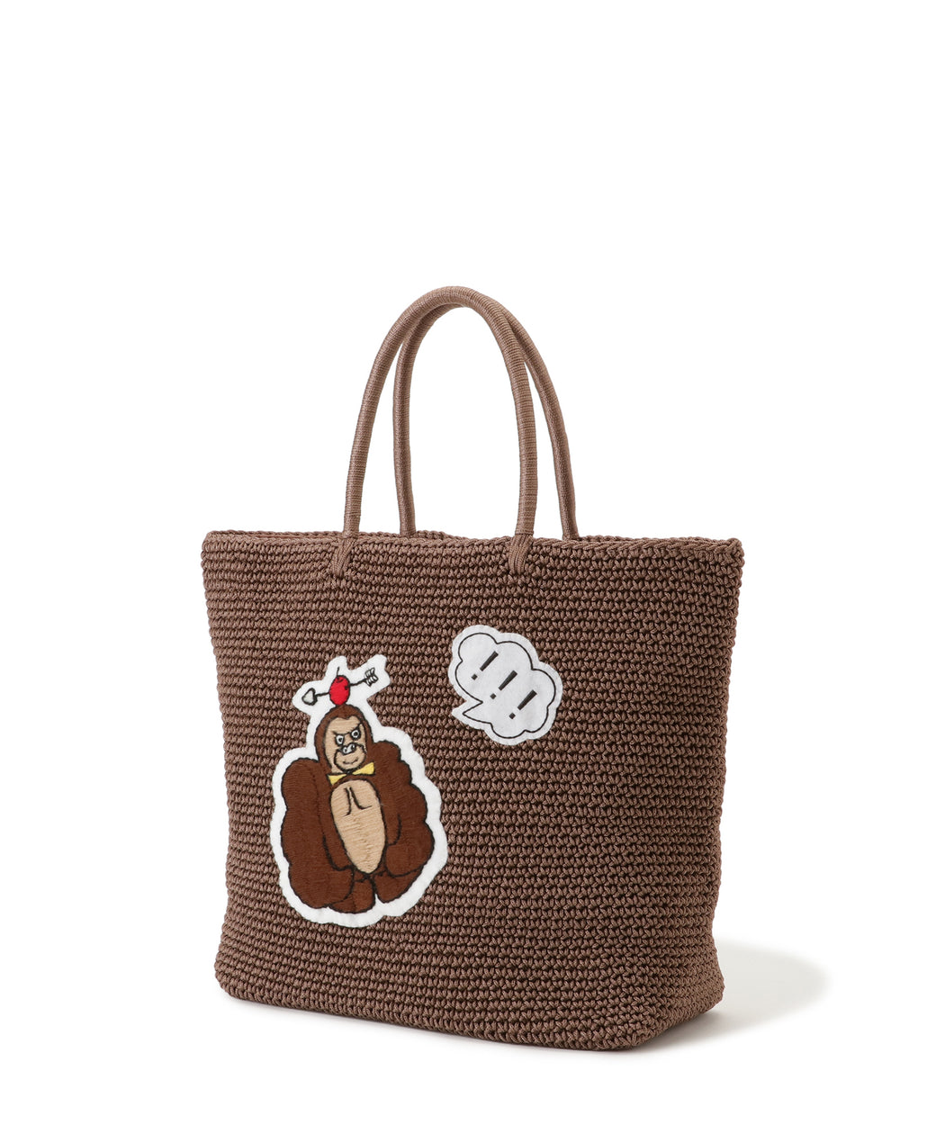 Cord bag animal motif (M size)