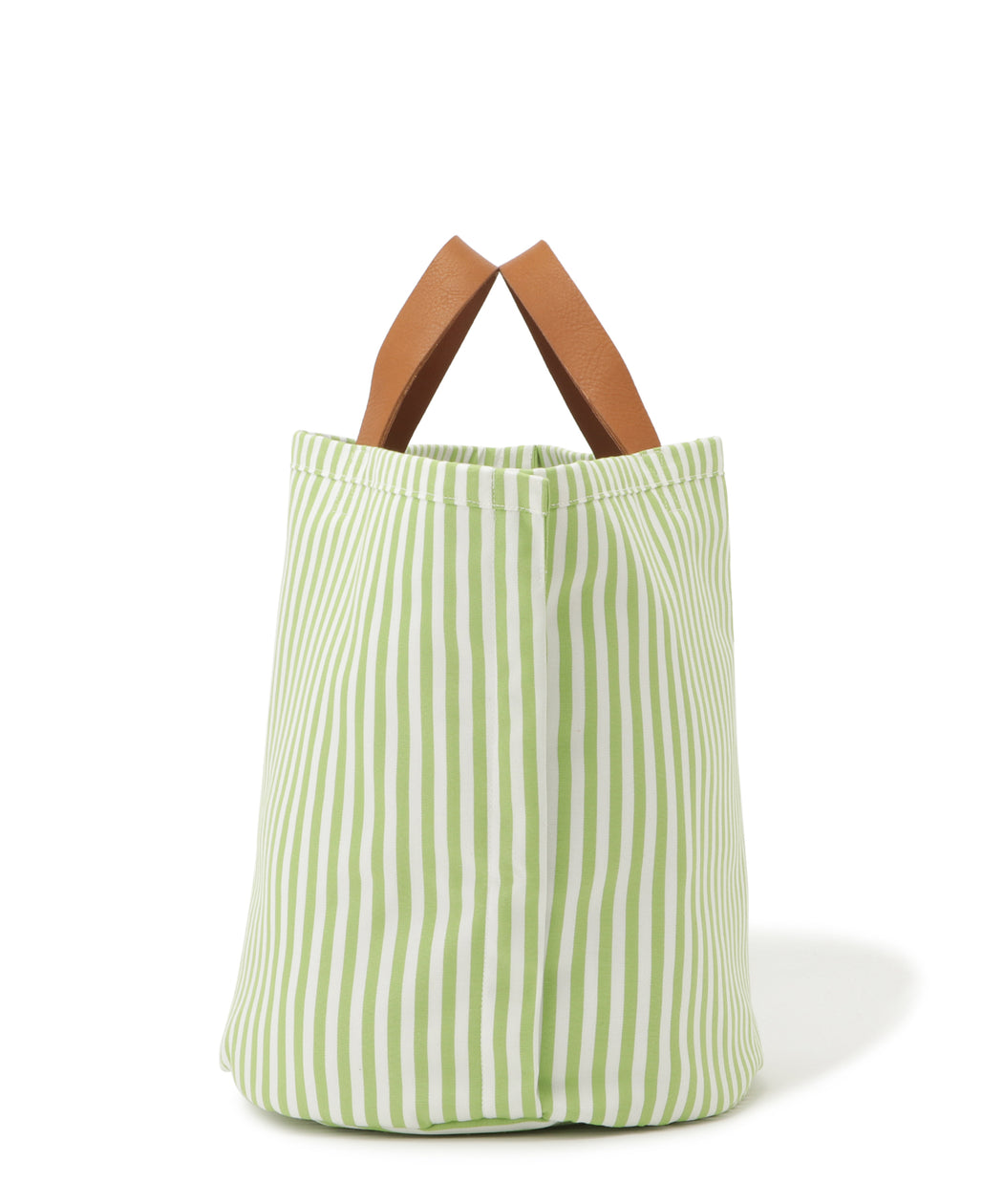 Large leather-trimmed canvas tote