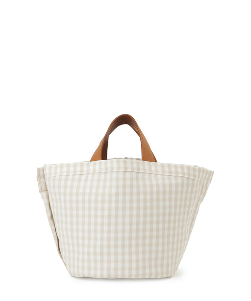 [予約][Ron Herman別注] Small leather-trimmed canvas tote (gingham)
