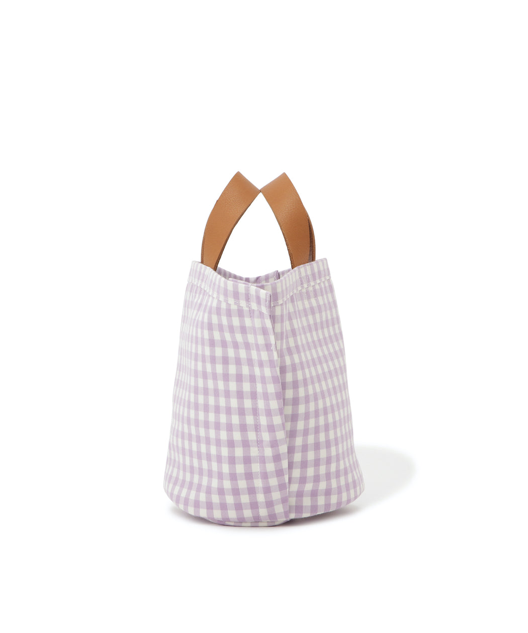 Small leather-trimmed canvas tote