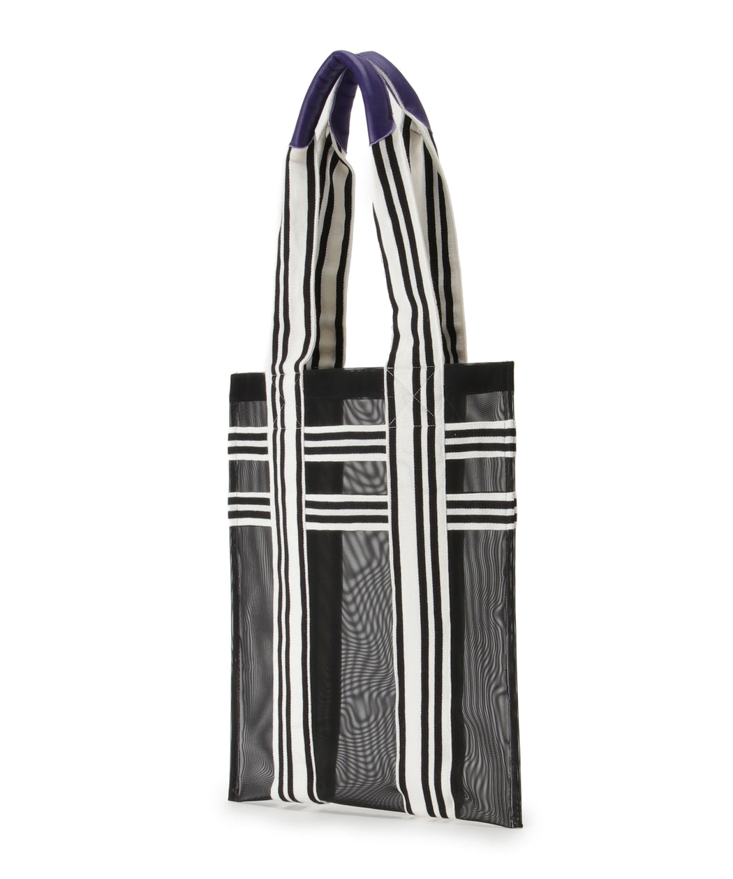 [予約] Stripe handle mesh tote