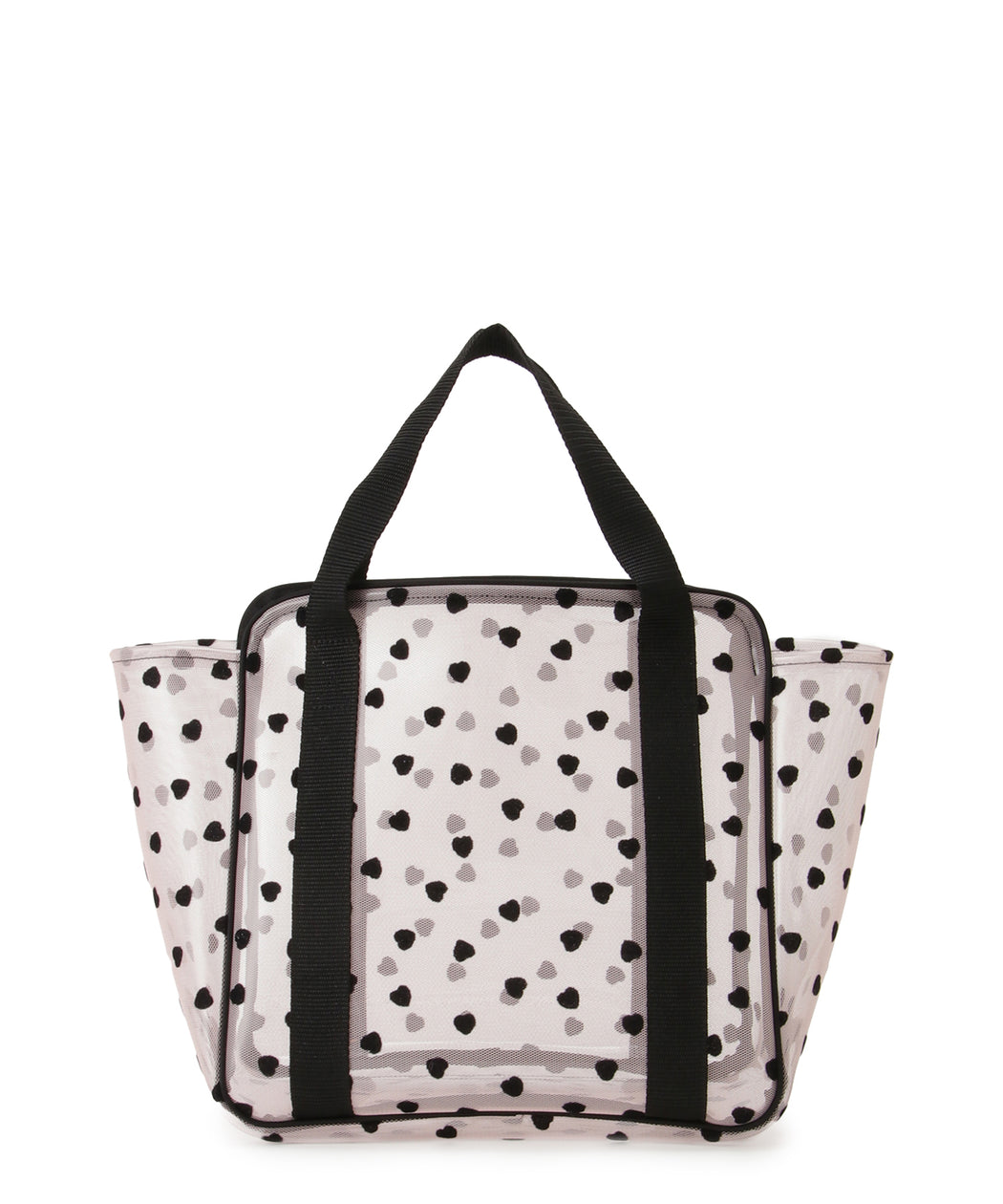 Flocked tulle / pvc tote