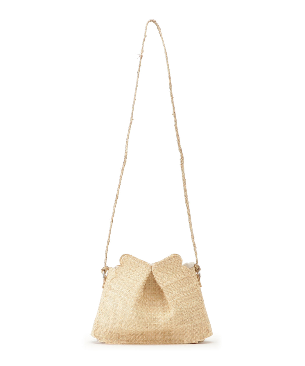 [予約] Scalloped raffia shoulder bag