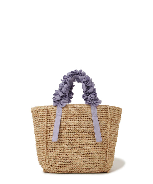[阪急限定] Grape handle tote M (Raffia)