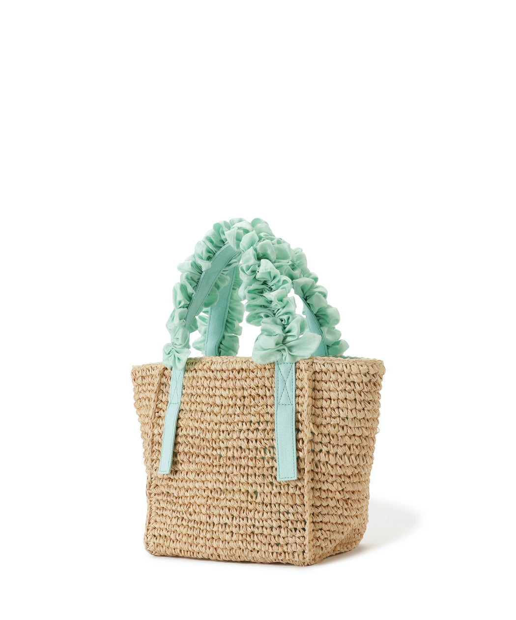 [WEB限定] Grape handle tote S (Raffia)