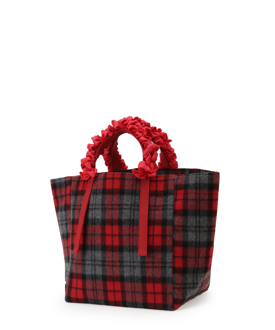 Grape handle tote (check)