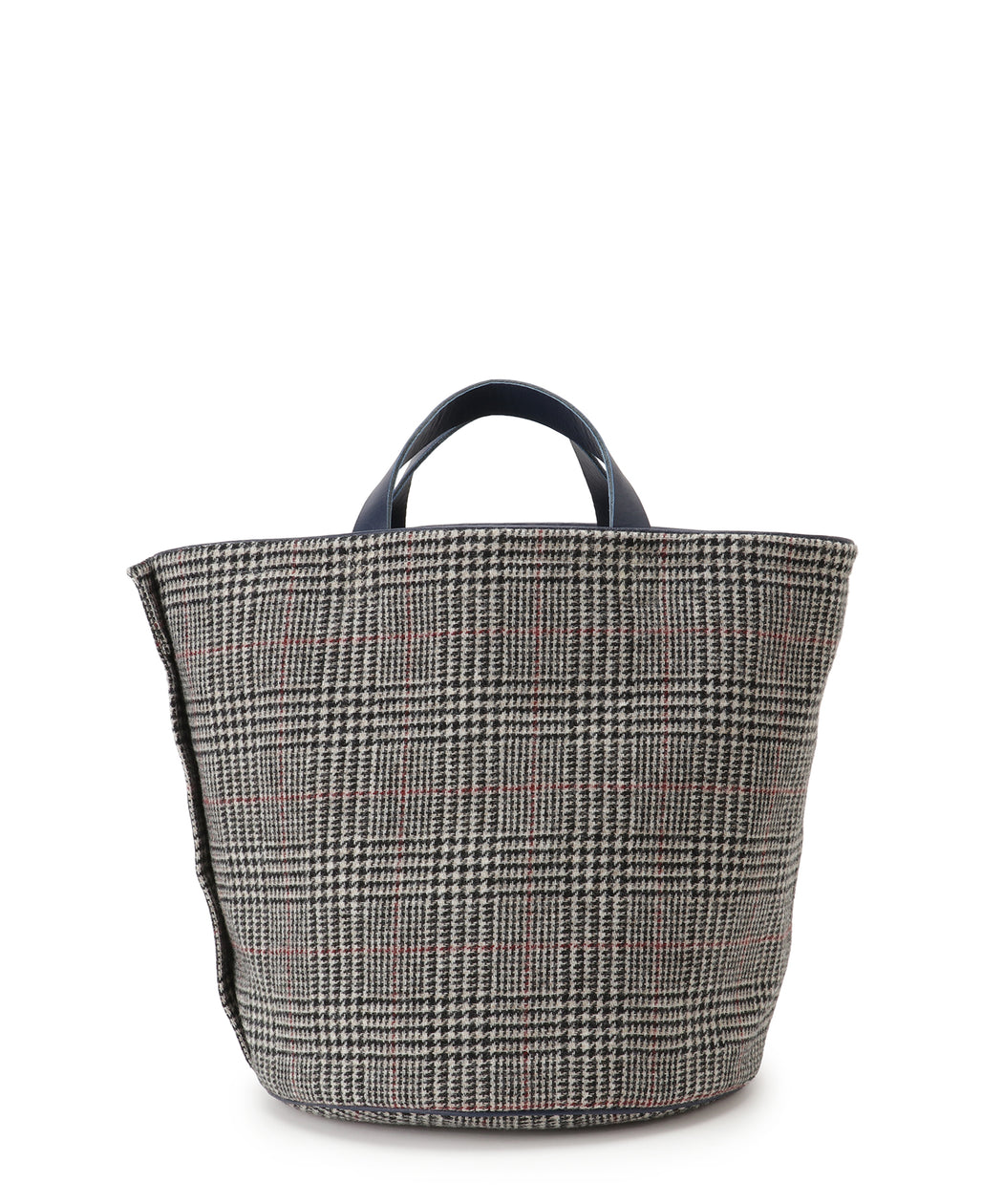 [予約] Large leather-trimmed tweed bucket bag [11月中旬発送予定]