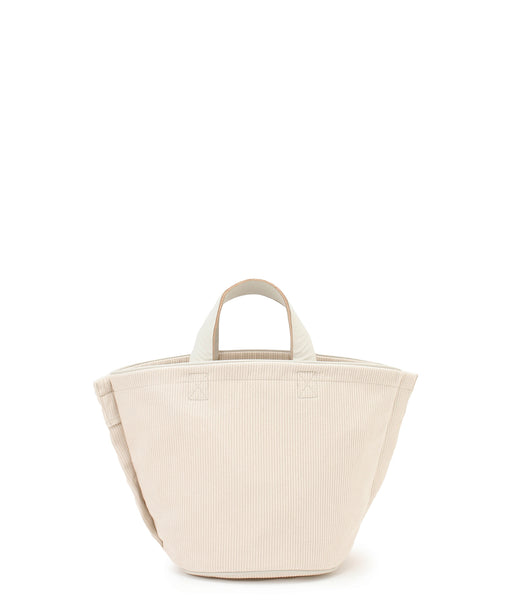 [予約] Small leather-trimmed corduroy bucket bag [11月中旬発送予定]