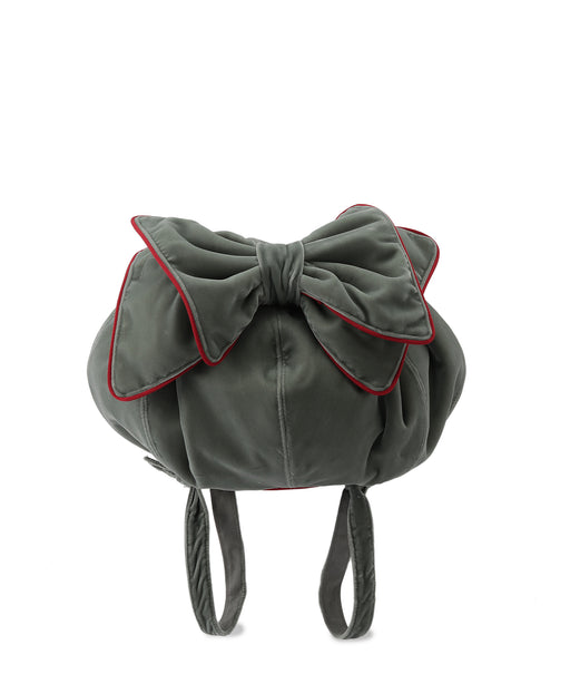 Mini Velvet bow backpack