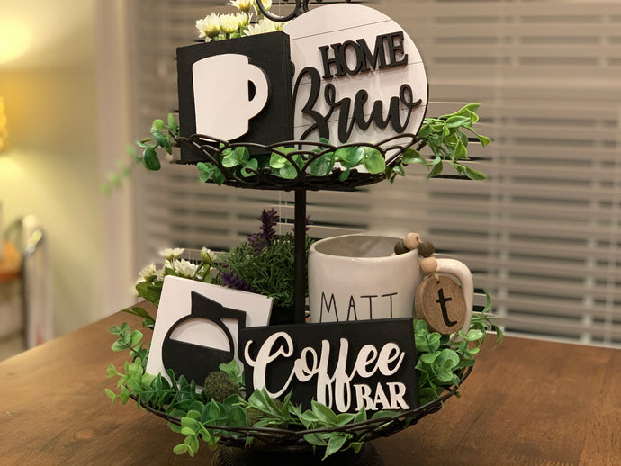 Coffee Mini Signs Set Take and Make kit