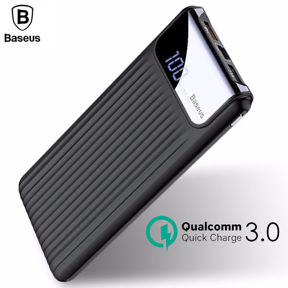 10000mAh LCD QC 3.0 Dual USB Power Bank For All Size Devices