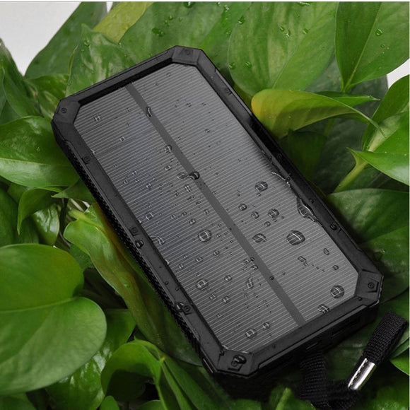 20000mAh Solar Power Bank Portable Solar Phone Charger Outdoors External Battery for Cellphone,waterproof