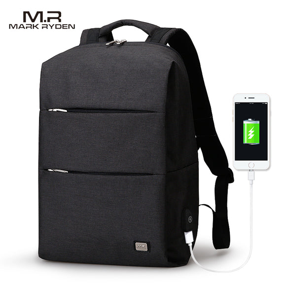MarkRyden New Arrivals Men Backpack For 15.6inches Laptop Backpack Large Capacity Casual Style Bag Water Repellent Backpack
