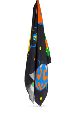 Its' a bug life Silk Scarf by Anjana