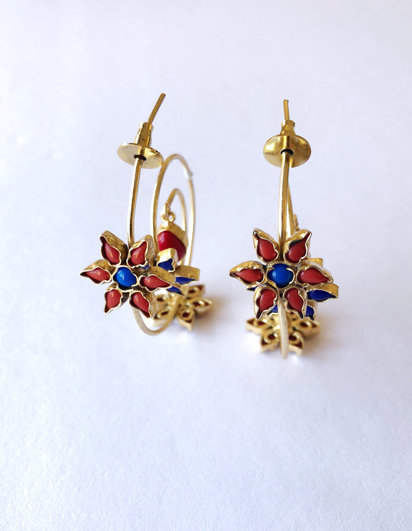 Aster floral earrings