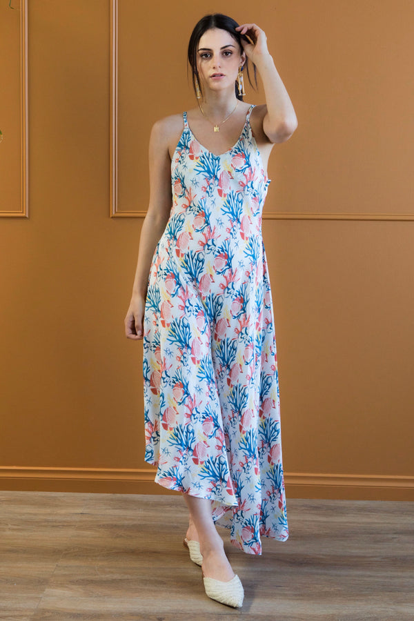 Adella - Printed mulberry silk maxi dress