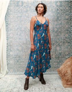 Ariel - printed mulberry silk maxi dress