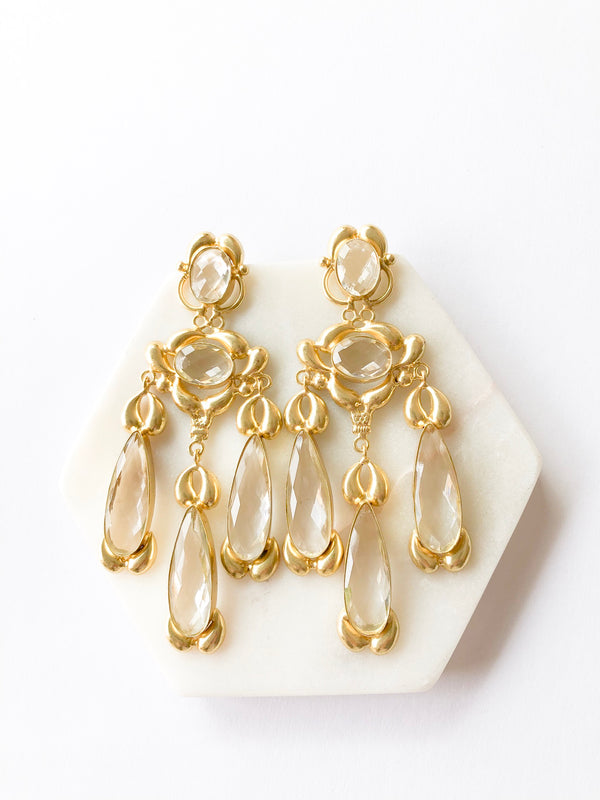 Devi statement earrings