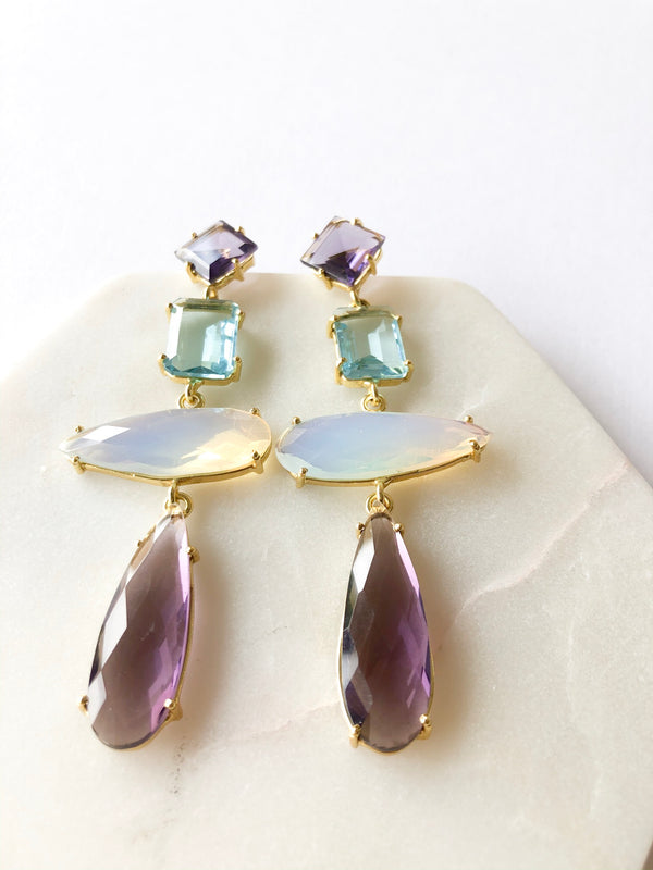 Mira statement earrings