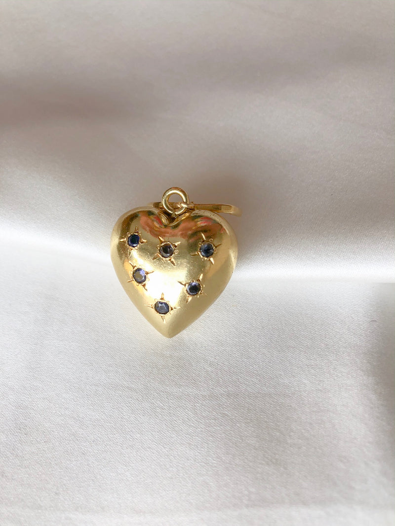 Heart and stones charm