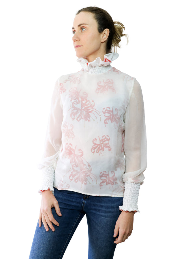 Victorian Silk Blouse - Printed