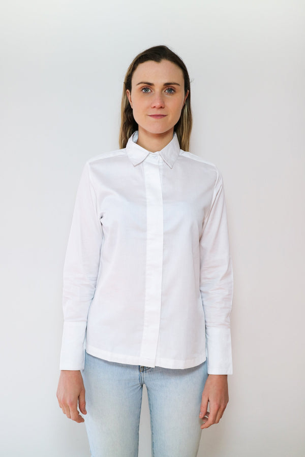 Cotton silk embroidered shirt