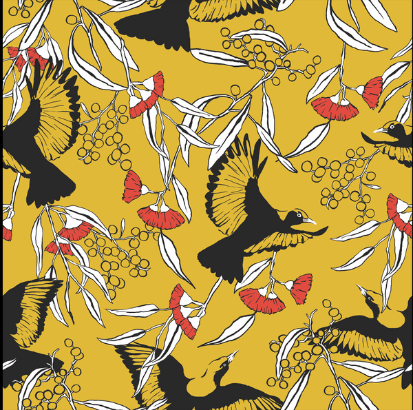 Bowerbird Silk Scarf by Christina